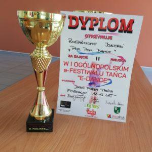 Dyplom - II miejsce wIOgólnopolskim e-Festiwalu Tańca E-Dance